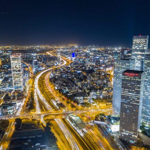 אורות תל אביב בלילה